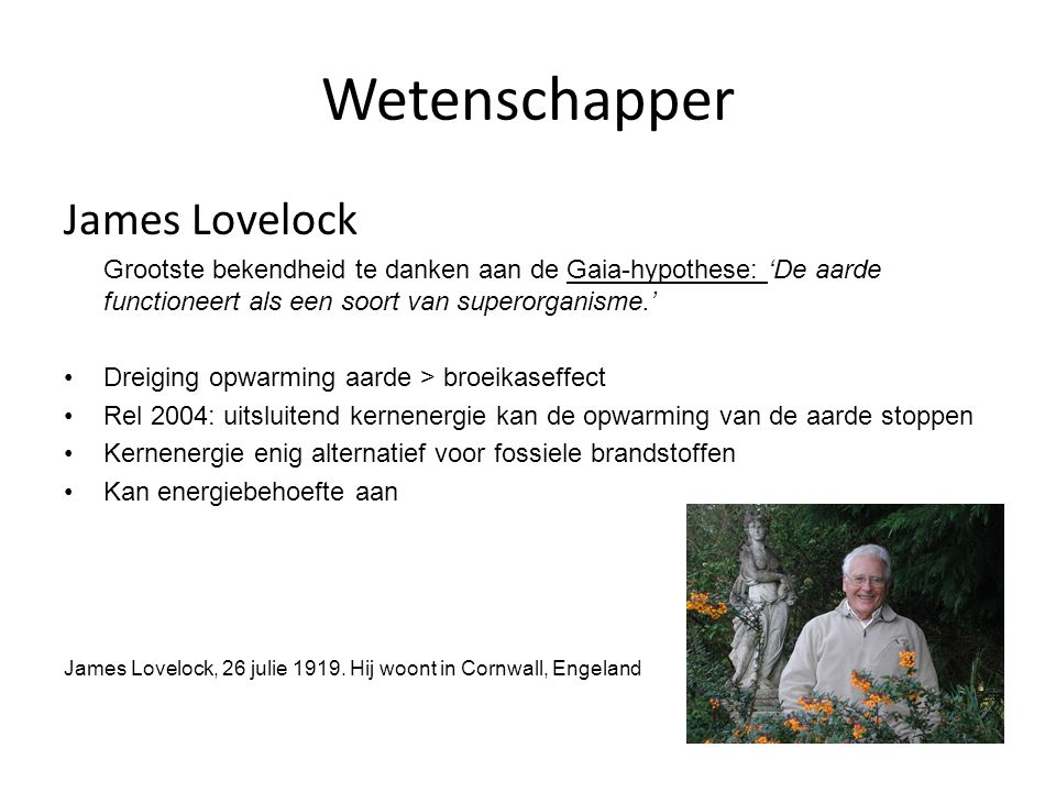 Wetenschapper James Lovelock