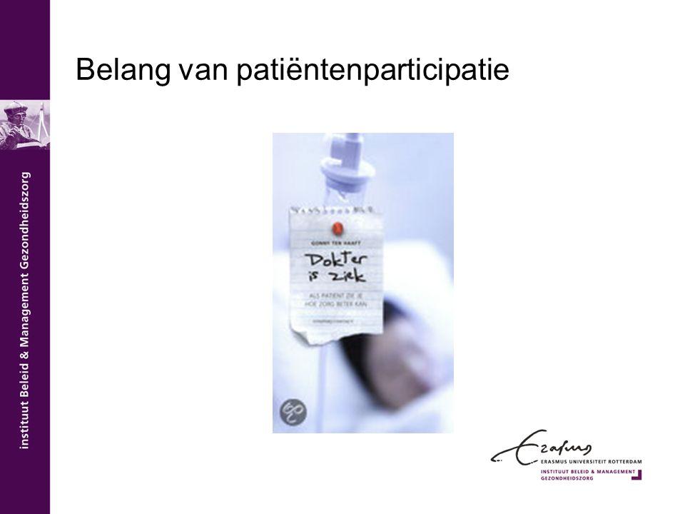 Belang van patiëntenparticipatie