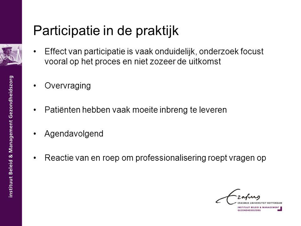 Participatie in de praktijk