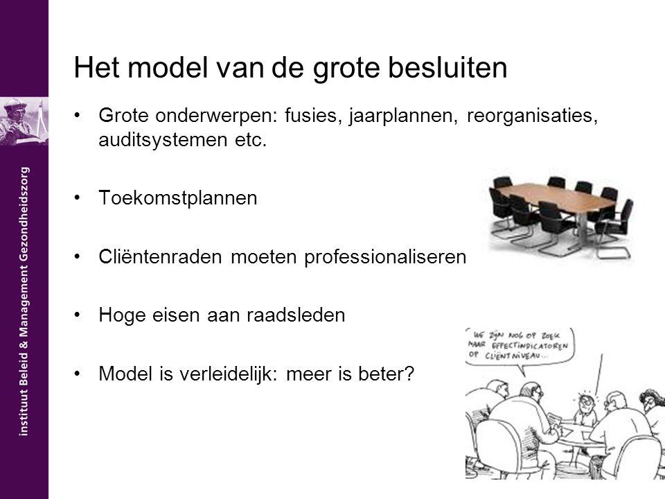 Het model van de grote besluiten