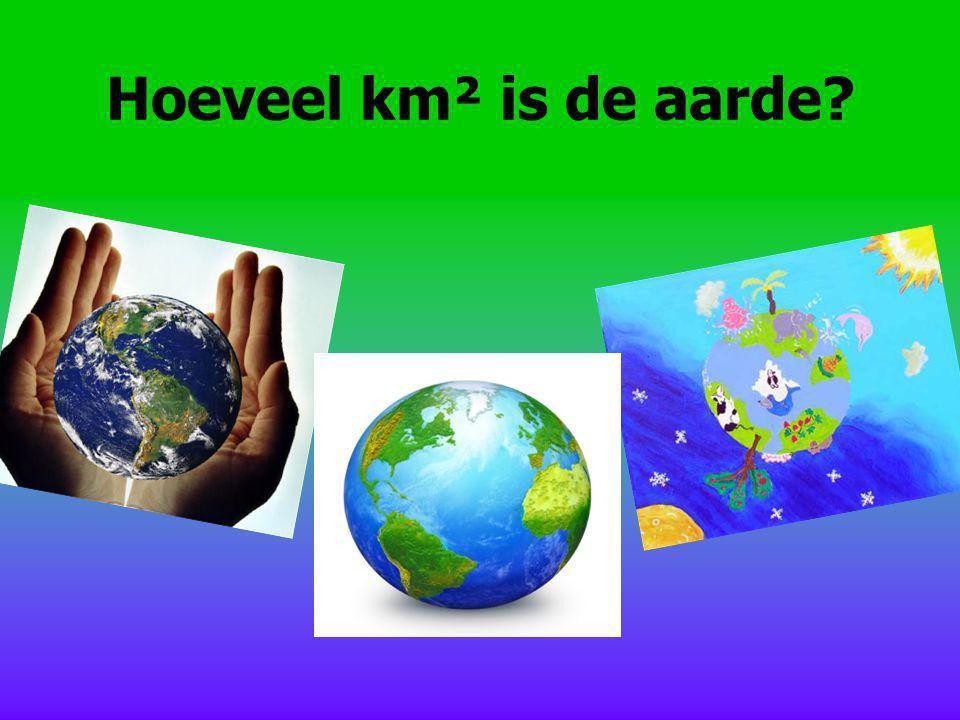 Hoeveel km² is de aarde