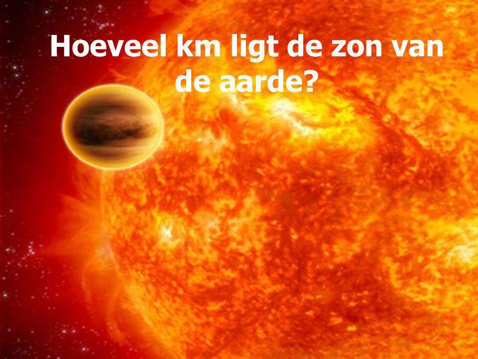 Hoeveel km ligt de zon van de aarde
