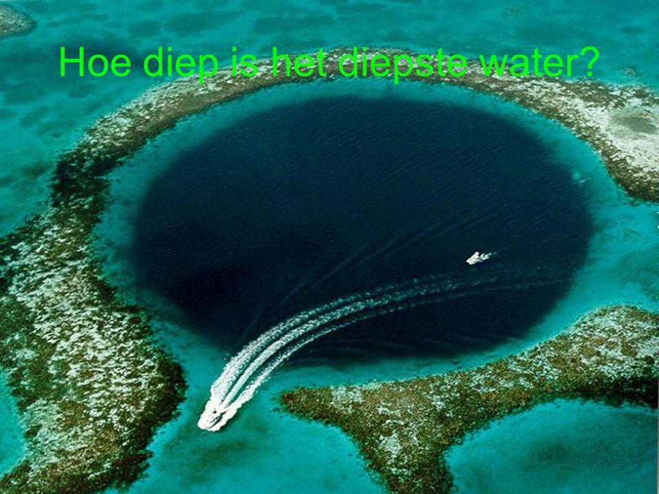 Hoe diep is het diepste water