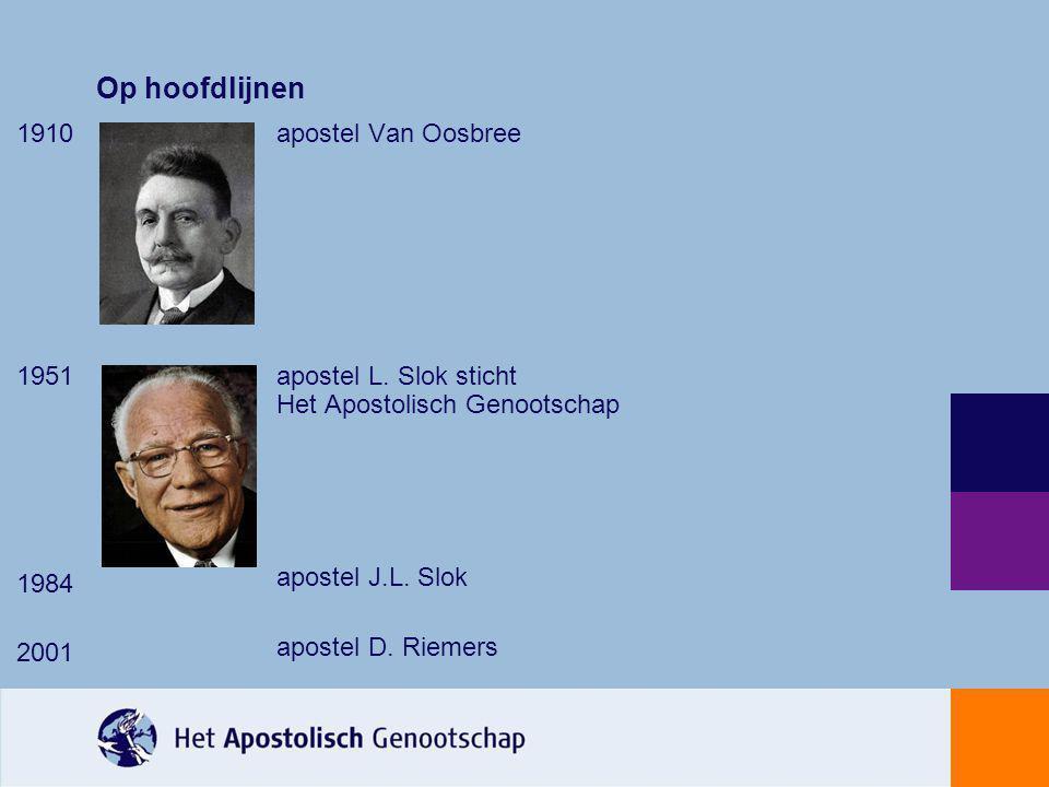 Op hoofdlijnen 1910 apostel Van Oosbree 1951