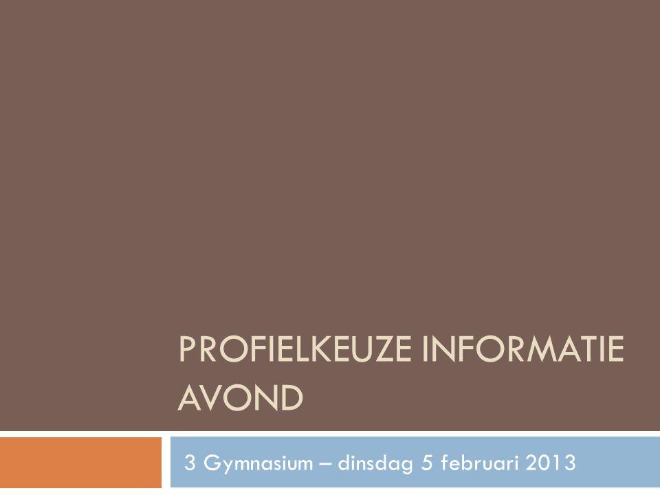 Profielkeuze informatie avond