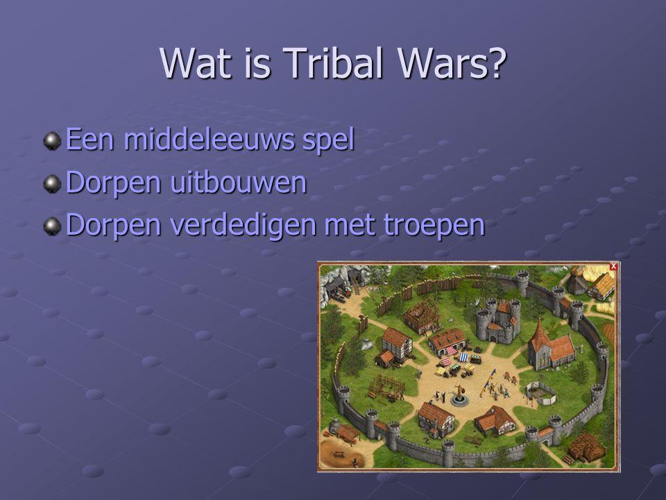 Wat is Tribal Wars Een middeleeuws spel Dorpen uitbouwen