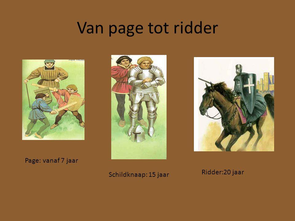Van page tot ridder Page: vanaf 7 jaar Ridder:20 jaar