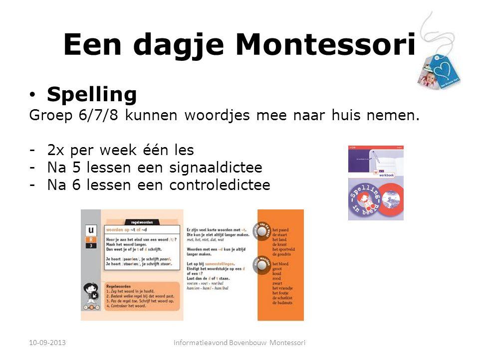 Informatieavond Bovenbouw Montessori