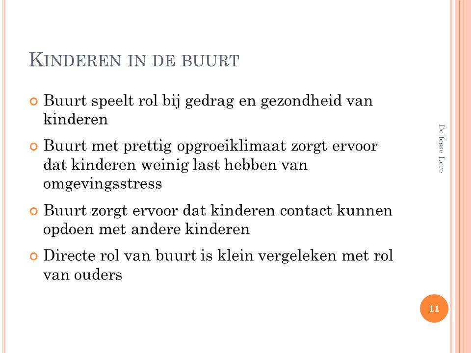 Kinderen in de buurt Buurt speelt rol bij gedrag en gezondheid van kinderen.
