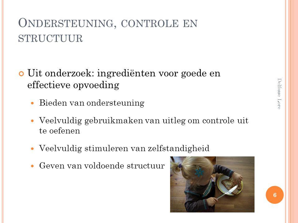 Ondersteuning, controle en structuur