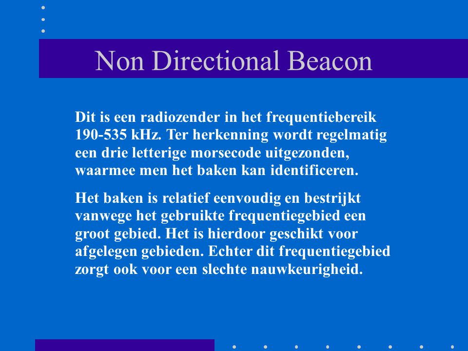 Non Directional Beacon