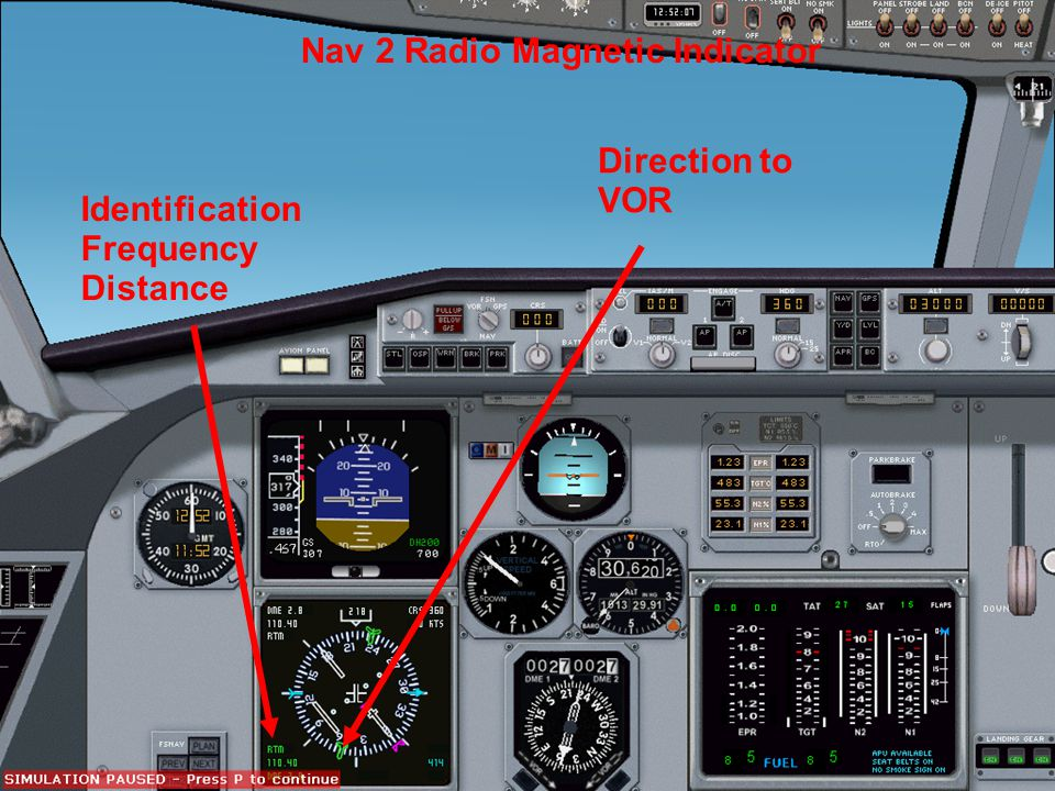 Nav 2 Radio Magnetic Indicator