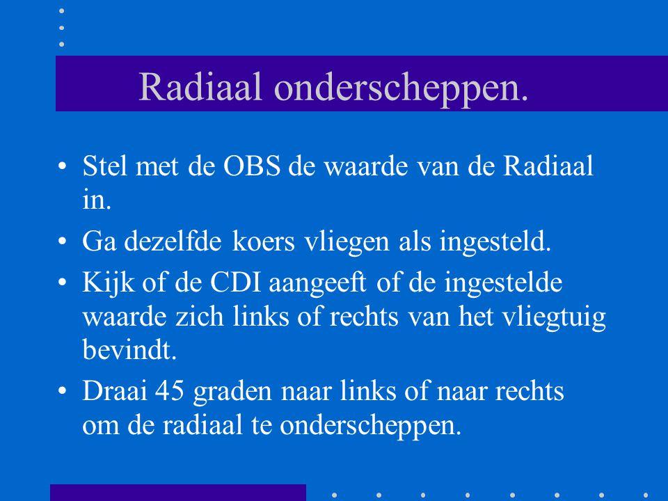 Radiaal onderscheppen.