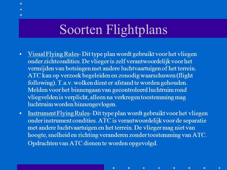 Soorten Flightplans