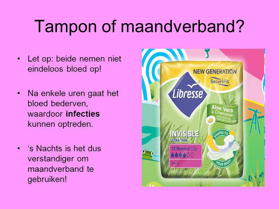 Tampon of maandverband