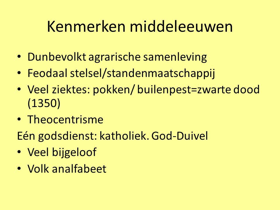 Kenmerken middeleeuwen