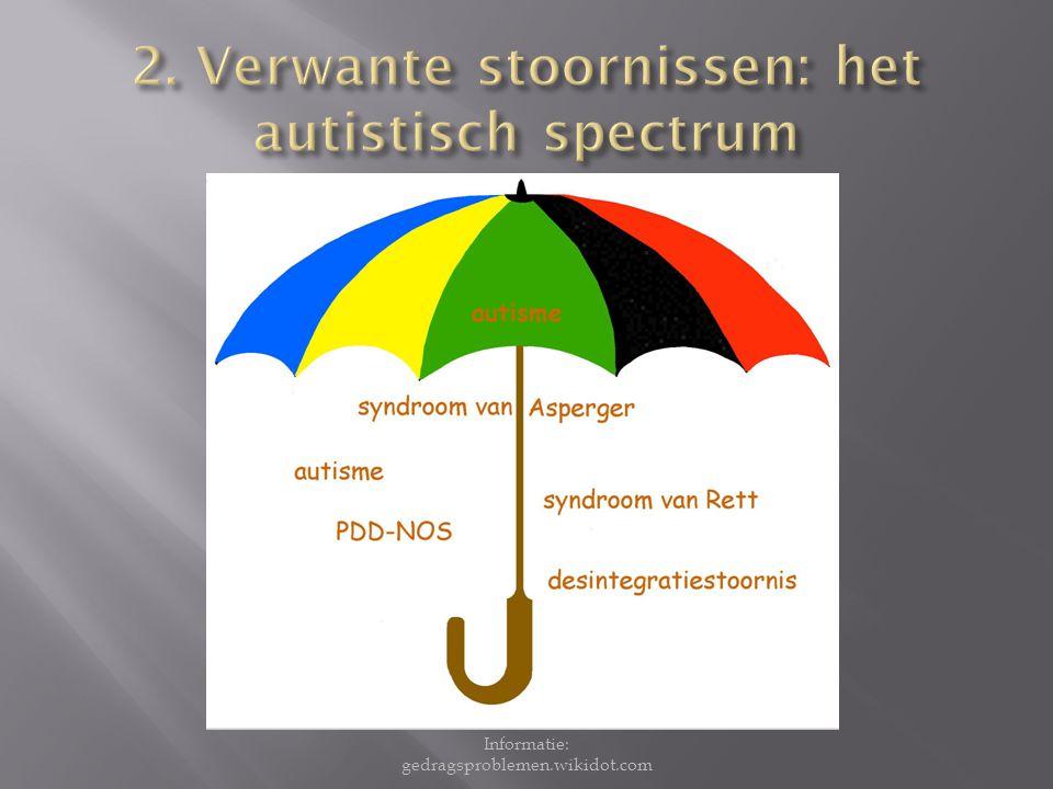 2. Verwante stoornissen: het autistisch spectrum