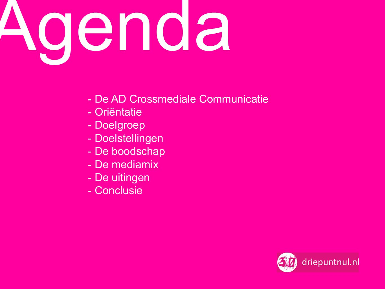 Agenda - De AD Crossmediale Communicatie - Oriëntatie - Doelgroep
