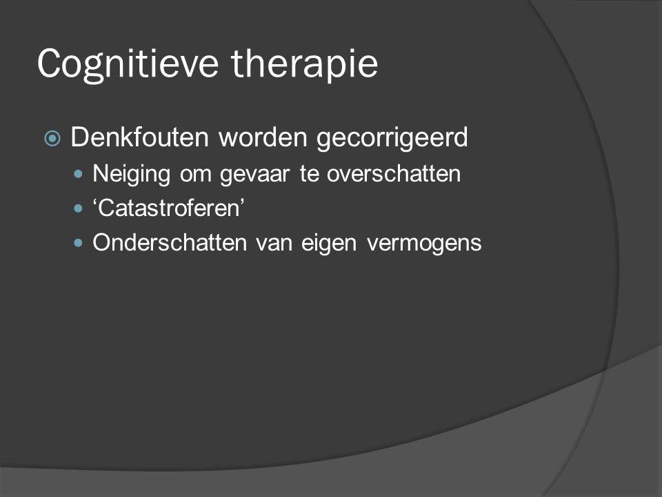 Cognitieve therapie Denkfouten worden gecorrigeerd