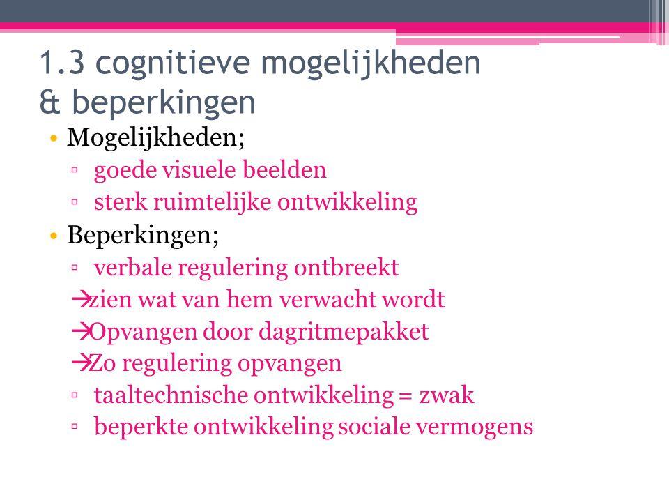 1.3 cognitieve mogelijkheden & beperkingen