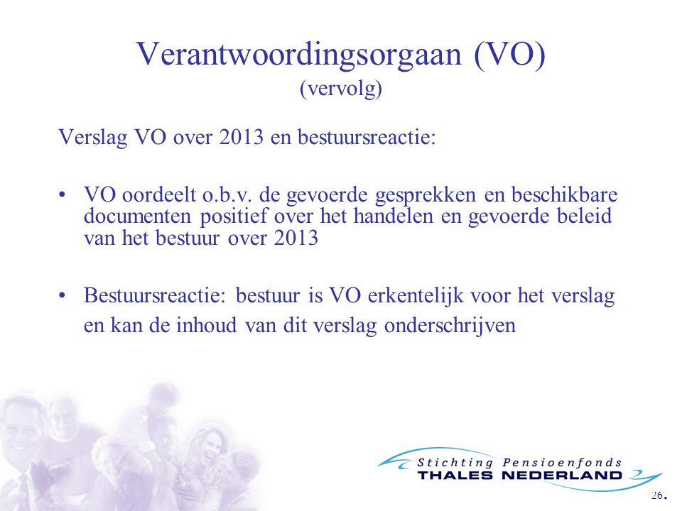 Verantwoordingsorgaan (VO) (vervolg)