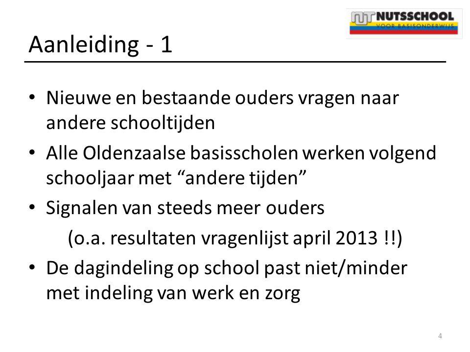 (o.a. resultaten vragenlijst april 2013 !!)