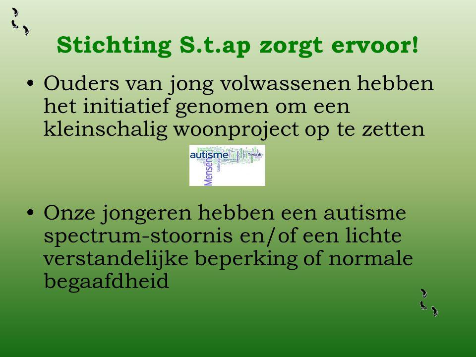 Stichting S.t.ap zorgt ervoor!