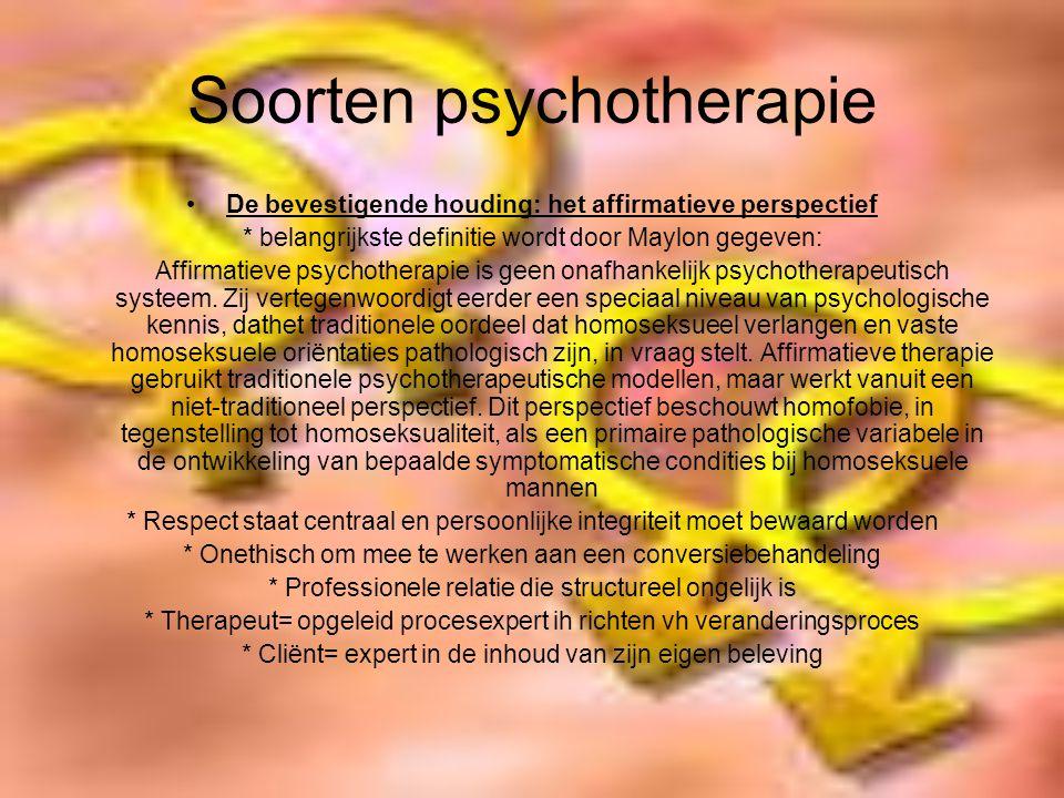 Soorten psychotherapie