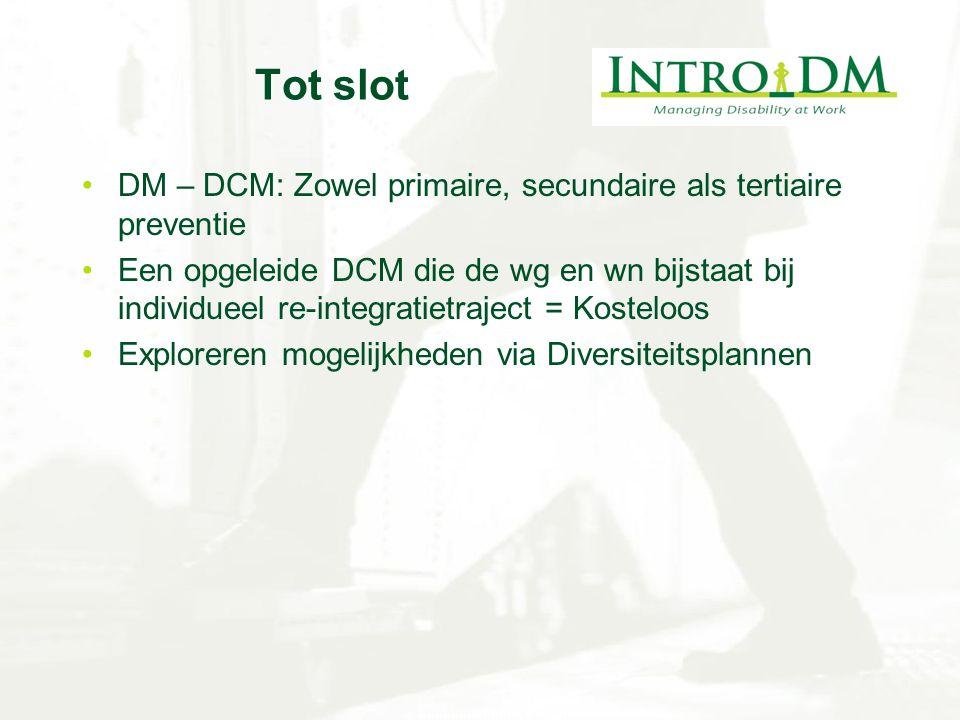 Tot slot DM – DCM: Zowel primaire, secundaire als tertiaire preventie