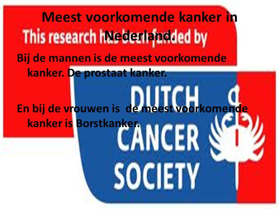 Meest voorkomende kanker in Nederland.
