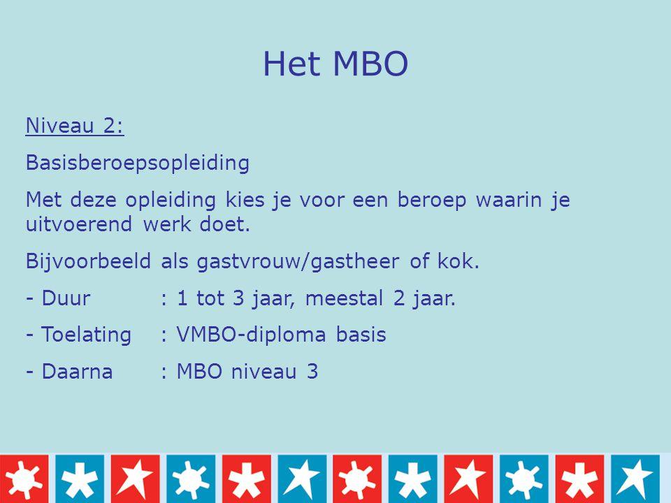 Het MBO Niveau 2: Basisberoepsopleiding