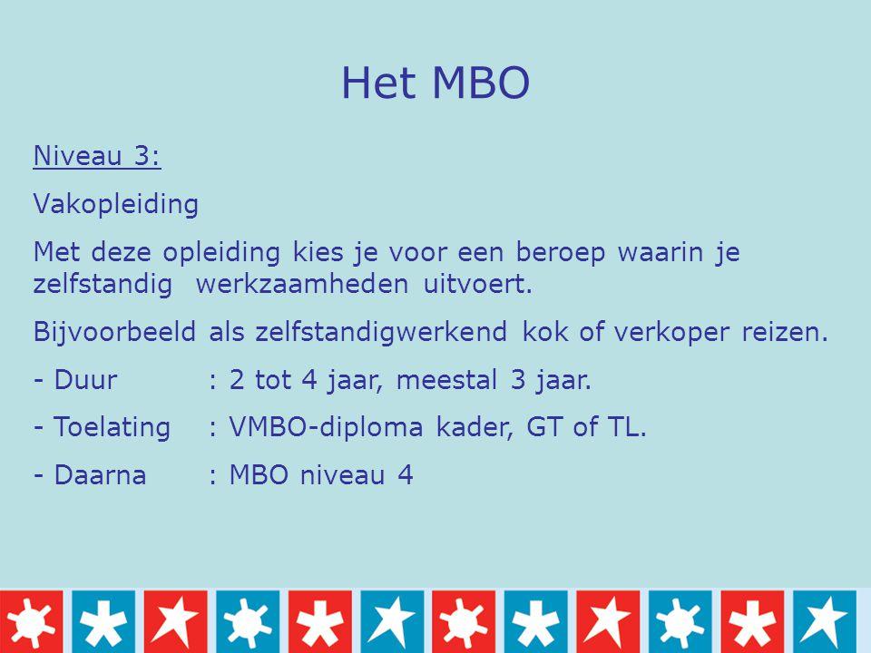 Het MBO Niveau 3: Vakopleiding