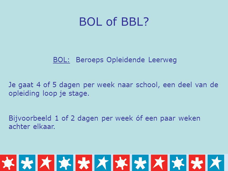 BOL: Beroeps Opleidende Leerweg