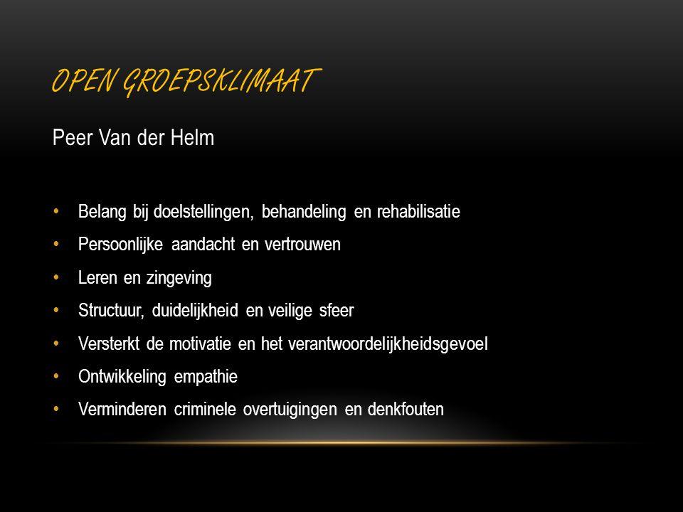 Open groepsklimaat Peer Van der Helm
