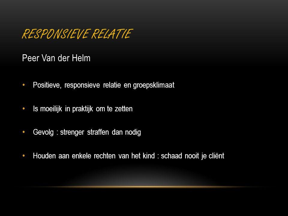 Responsieve relatie Peer Van der Helm