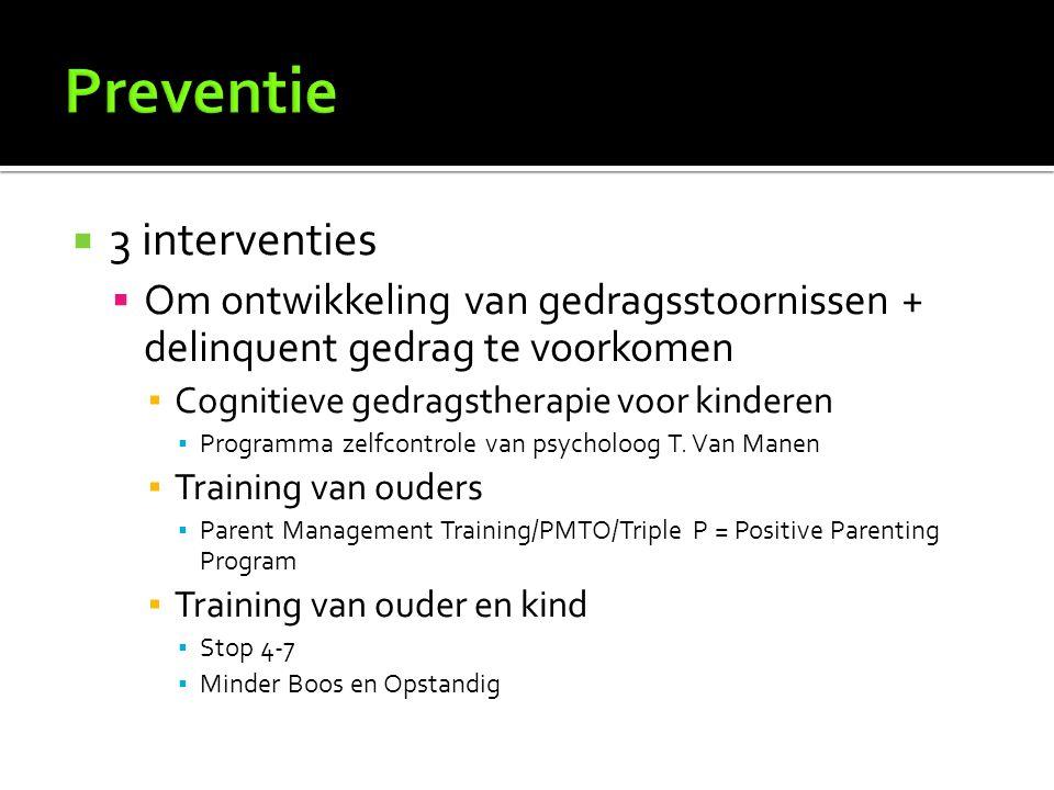 Preventie 3 interventies