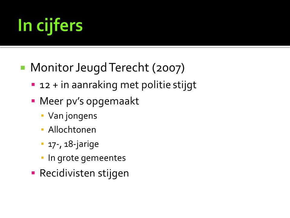 In cijfers Monitor Jeugd Terecht (2007)