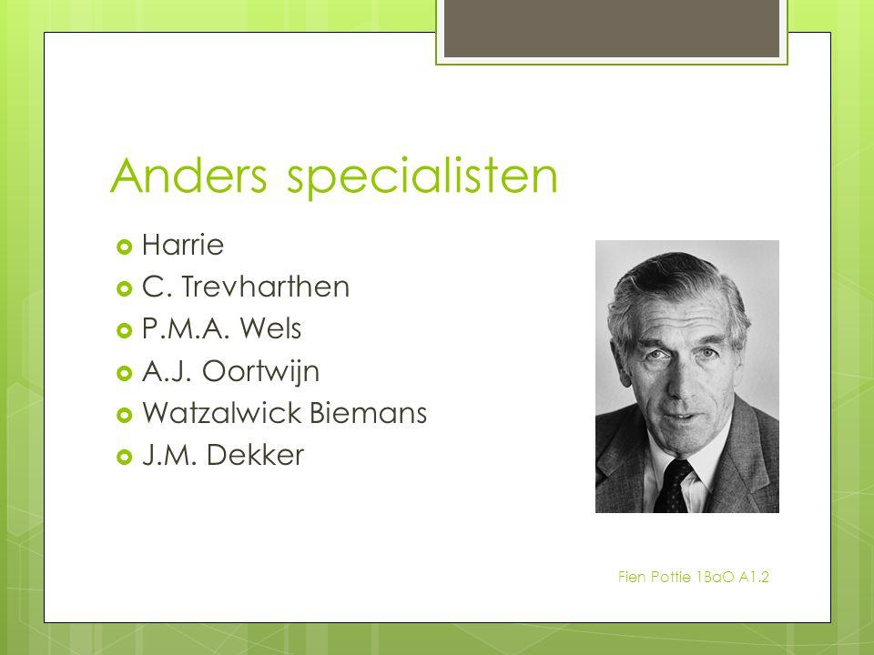 Anders specialisten Harrie C. Trevharthen P.M.A. Wels A.J. Oortwijn