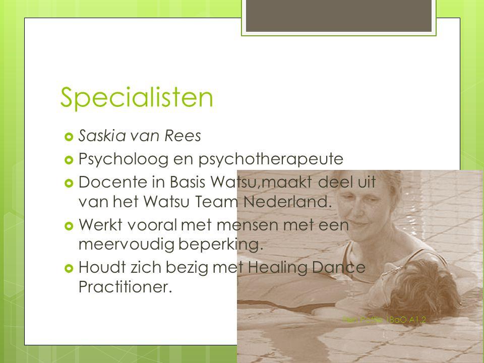 Specialisten Saskia van Rees Psycholoog en psychotherapeute