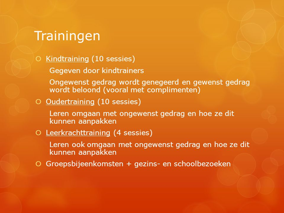 Trainingen Kindtraining (10 sessies) Gegeven door kindtrainers