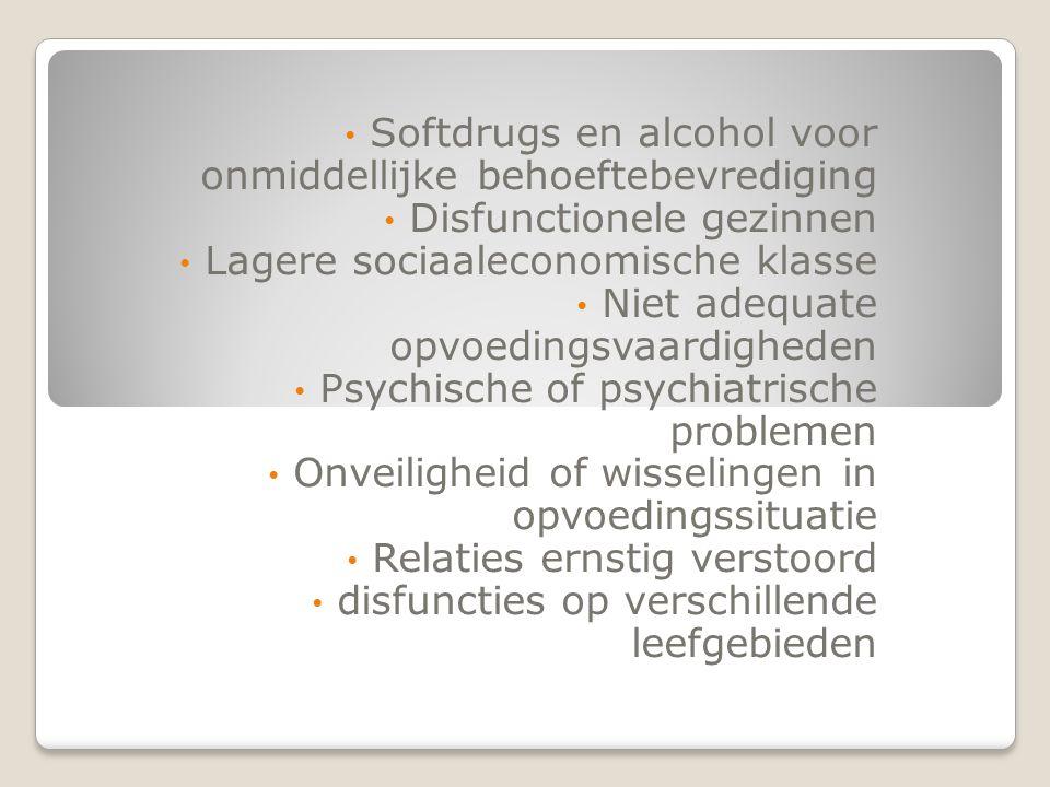 Softdrugs en alcohol voor onmiddellijke behoeftebevrediging