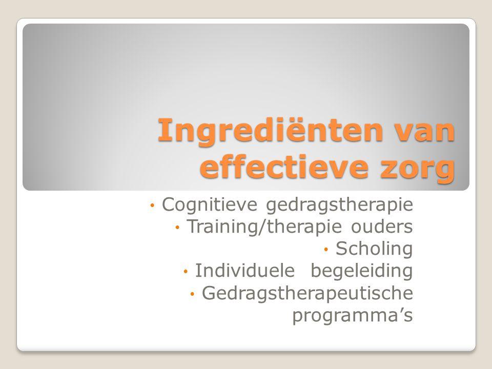 Ingrediënten van effectieve zorg
