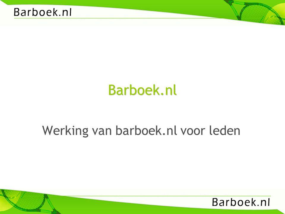 Werking van barboek.nl voor leden
