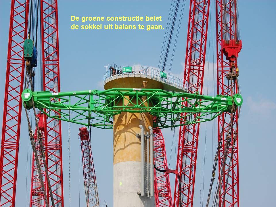 De groene constructie belet
