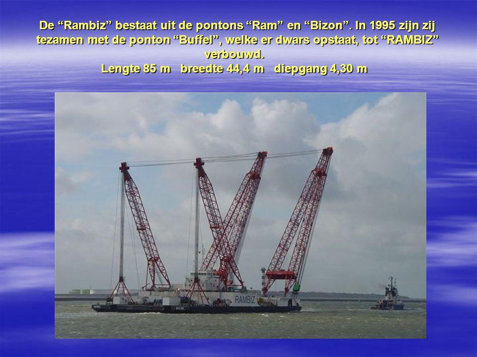 De Rambiz bestaat uit de pontons Ram en Bizon