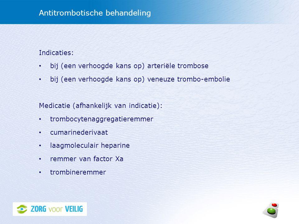 Antitrombotische behandeling
