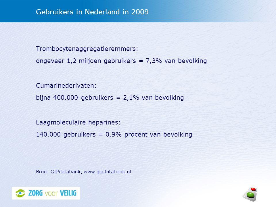 Gebruikers in Nederland in 2009