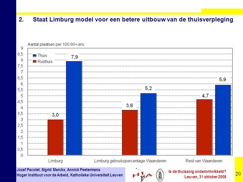 2. Staat Limburg model voor een betere uitbouw van de thuisverpleging