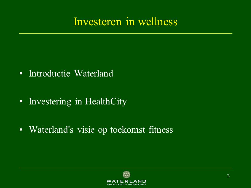 Investeren in wellness