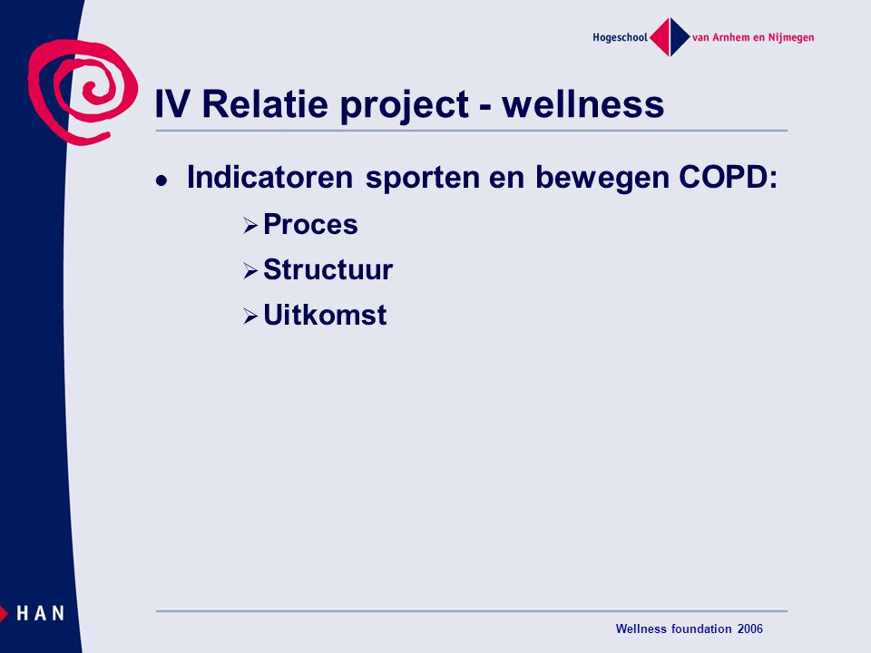 IV Relatie project - wellness